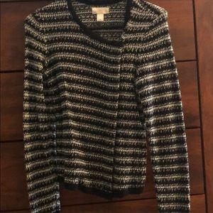 Striped LOFT sweater jacket